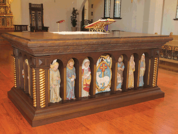 highly detailed liturgical furniture