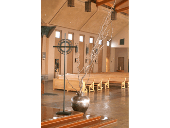 Monstrance and Processional Candles